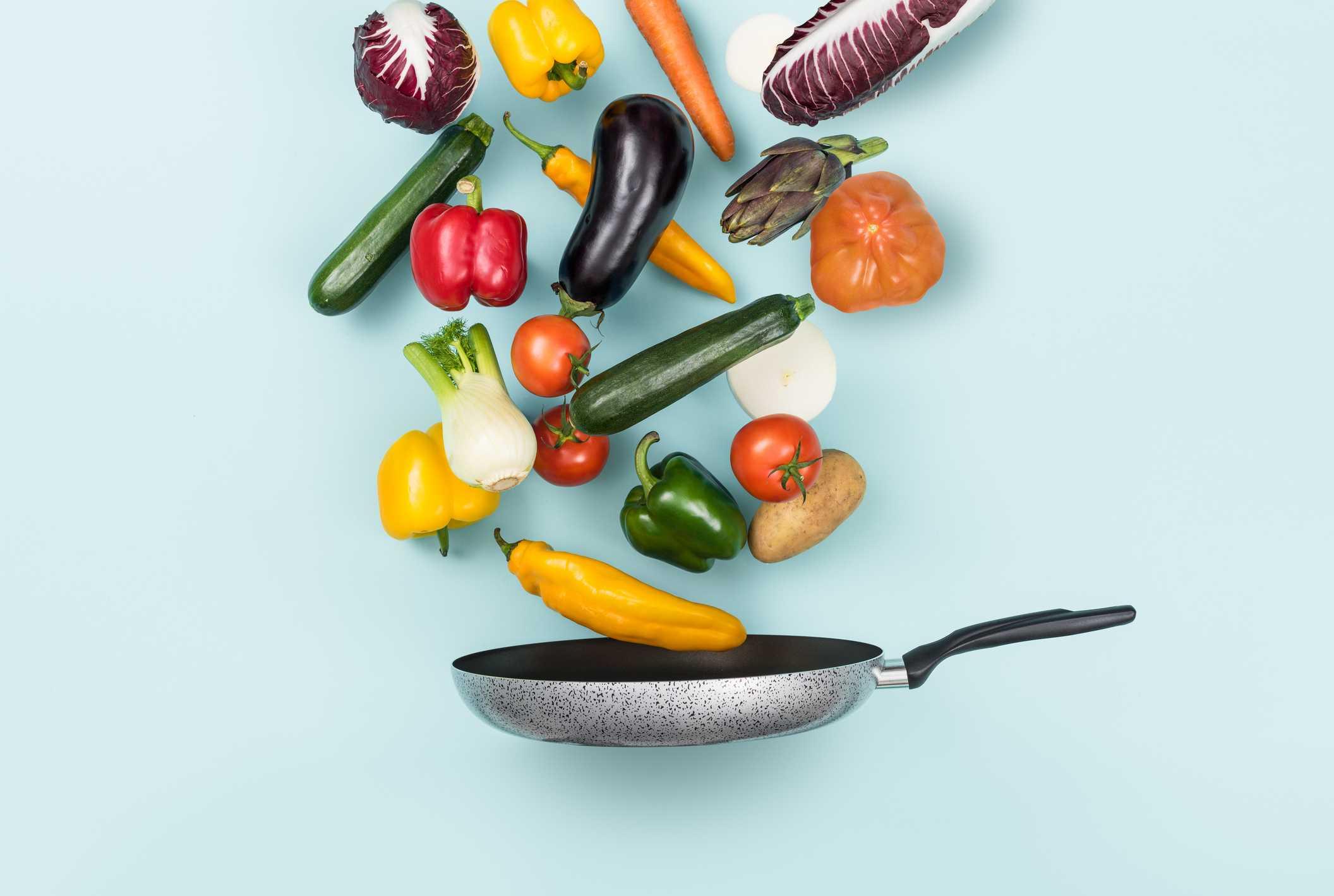 Verduras a la sartén y un chorrito de aceite, el truco definitivo