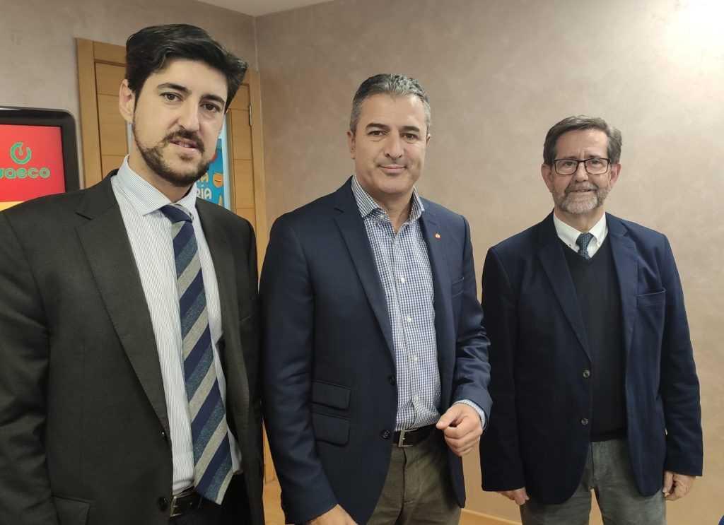 Juan de Vicente (SAECO), Fernando P. Gómez (Proexport) y Antonio López (UPCT).