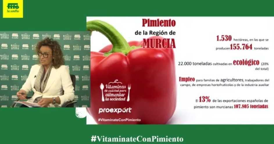 Eva Pérez, presidenta del Comité Sectorial de Pimiento de Proexport en la jornada #VitamínateConPimiento