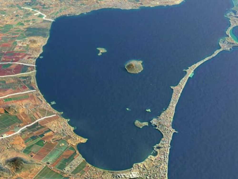 foto aérea del Mar Menor en Murcia